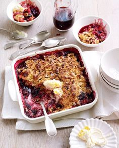 Susy Atkins' crumble recipe uses apples, blackberries and sloe gin – a wonderful dessert to warm you up during the winter season.