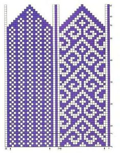 turkish pattern mittens: knitting tutorial - crafts ideas - crafts for kids Knitted Mittens Pattern, Knitted Slippers, Knit Mittens, Knitting Socks, Fingerless Mittens, Loom Knitting, Knitting Charts, Knitting Stitches, Free Knitting