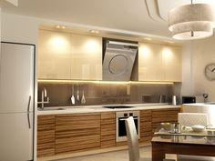 Дизайн кухни в экзотическом цвете зебрано
