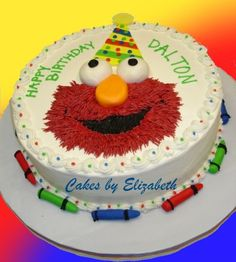 Elmo cake so cute I may make Landon this cake for his second birthday