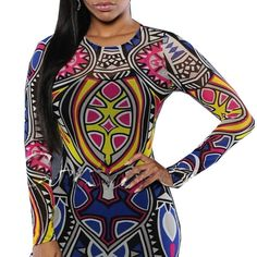 a0b71dc848 Rompers Womens Jumpsuit Women Tribal Tattoo Printing Mesh Long Sleeve Sexy  Bodysuit Celebrity Catsuit Playsuit Bodycon