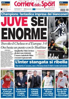 The day after Juventus-Chelsea! http://juvefootballclub.blogspot.it/2012/11/juventus-chelsea-day-after.html
