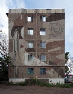 CCCP. Soviet mosaic in Karaganda or Qaraghandy, the capital of Karaganda Region in Kazakhstan. It is the fourth most populous city in Kazakhstan, behind Almaty (Alma-Ata), Astana and Shymkent.