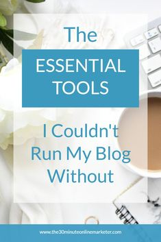 A list of must-have resources for blogging, online marketing, productivity and time management and running your business. #blogging #onlinemarketing #webhosting