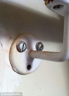 But this wall hook obviously doesn't feel prepared to take anything too heavy, as he looks on in a shocked state