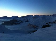 Nice evening walk on my skins, from Verbier to Les Attelas, enjoying Filip & Fredriks podcast :)