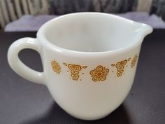 Vintage Corning Pyrex Golden Butterfly Design by GrandesTreasures on Etsy