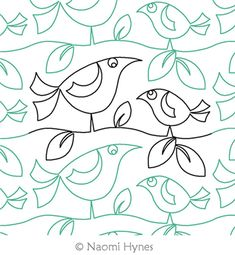 My Chicky Babe Pantograph Digital Quilting Design by Naomi Hynes.