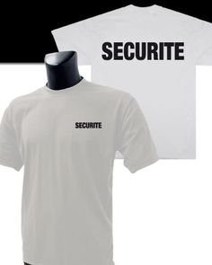 Tee-Shirt Blanc imprimé SECURITE - Sécurité Privée/Tee-shirts / Polos - securicount