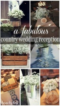 country wedding reception via housebyhoff.com by winnie