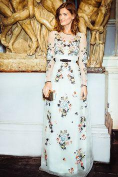 Hanneli Mustaparta - Page 19 - the Fashion Spot. Erdem gown and Anya Hindmarch custard cream clutch.