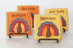 ADORABLE cookies to make as favors and/or table settings for Thanksgiving! Too cute!!