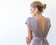 short #bridesmaid dress in taupe