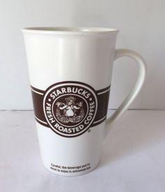 Starbucks Mug Tall Brown Split Tail Siren Mermaid Advertising Logo Coffee Cup #Starbucks