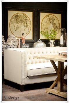 Tomines hjem: Dining sofa og showroom