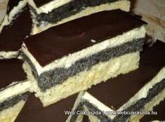Mákos krémes Cookie Desserts, Fun Desserts, Cookie Recipes, Dessert Recipes, Hungarian Desserts, Hungarian Recipes, Torte Cake, Bakery Recipes, Sweet And Salty