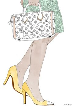Art Bag Drawing Fashion Fashion Illustration Inspiring Picture