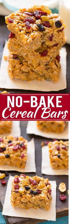 This recipe for 5 ingredient no-bake cereal bars is the perfect on-the-go breakfast for busy mornings. #FueledForSchool ad