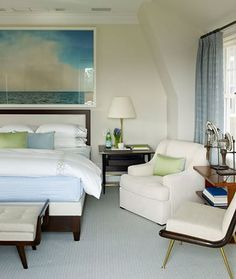 Little Green Notebook: Huge Artwork Over the Bed