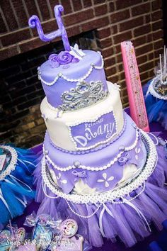 Sofia the 1st birthday party cake! See more party planning ideas at CatchMyParty.com!