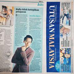 #Repost from @hafizza1nal -  Thanks Utusan Malaysia ! I hope that I can inspire more people to always chase your dreams no matter what :) #utusanmalaysia #today #tuesday #18aug15 #cbjk .  Btw jangan lupa dengarkan hafiz di @hotfm976 malam ini pukul 9pm ya :) hafiz akan mempromosikan single hafiz #cintabukanjalankita :) #hotfm