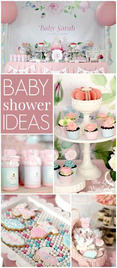 Here's a gorgeous pretty in pink baby shower! See more party ideas at CatchMyParty.com!