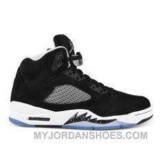 newest 5add7 5e1b9 136027-035 Air Jordan 5 Retro Black Cool Grey-White (Women Men) JsdNT