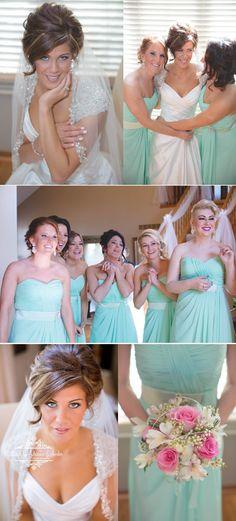 Royal Oak Wedding Photographers-Weddings by Adrienne & Amber #weddings #photography #girls #weddingsbyadrienneandamber #bridesmaids #mint #green #pink #white #spring #royaloak #detroit #DAC #hair #bridal #portrait