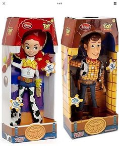 """Disney Store Exclusive Toy Story 3 Talking Woody and Jessie Dolls 16"""" #Disney"""
