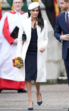 "ESC: Best Dressed, Meghan Markle (I have no idea what that is, let me know if you do!) I am still not sure about the berets, but this one is better. And the coat is great. (How did that clutch sell out when it was stuck under her arm? Call me crazy, I'd have it in my left hand. Or flowers in left hand as the right should be ""available"" for hand shaking. I write too much when I am tired LOL"