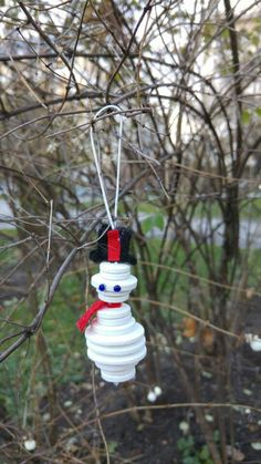 The #robot #Snowman. Take if you dare #Christmas #button #home #decoration