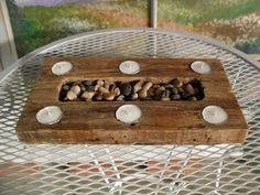 Rustic Zen  Reclaimed Pallet Candle Holder by PalletWorx on Etsy, $40.00