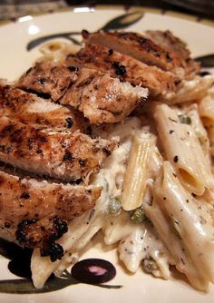 Grilled Chicken Piccata: It turned out really really great! HINT: make sure the cheese is melted all the way before adding the pasta. It's really hard to fix the sauce afterwards, but flour can always help.
