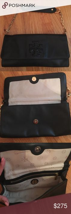 Tory Burch evening bag Authentic Tory Burch evening bag. Excellent condition! Very big inside can fit so much stuff. 6 x 11. Tory Burch Bags