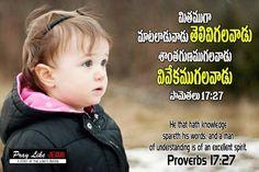 Bible Quotes, Bible Verses, Jesus Christ Quotes, Gods Grace, Gods Promises, Baby Pictures, Telugu, Proverbs, Knowledge