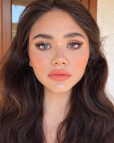 How To Draw Natural Wheat Face Makeup Looks For Beginners ? - Latest Fashion Trends For Woman Natural Glam Makeup, Elegant Makeup, Formal Makeup, Natural Eyeshadow, Natural Lipstick, Skin Makeup, Eyeshadow Makeup, Beauty Makeup, Eyeliner