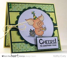 Will Stamp for wine: From the Heart Stamps Blog Hop