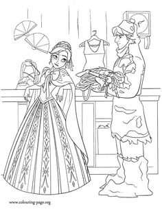 Anna meets Kristoff. He can help her find her sister. Another beautiful free and printable Disney Frozen coloring sheet. Just print it out and have fun!