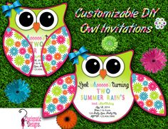Free DIY Customizable Owl Invitation Printable Template by D. Charismatic Tracy, via Behance