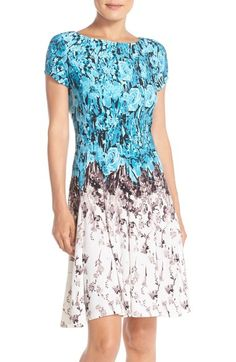 Gabby Skye Floral Print Jersey Fit & Flare Dress available at #Nordstrom