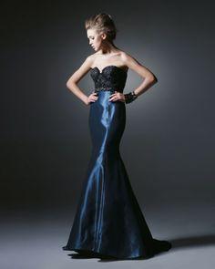 Unique Strapless Sweetheart Beading Appliques Mermaid Designer Evening Dress In Britain - Evening Dresses - Special Occasion Dresses