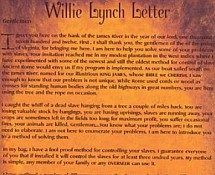 Willie Lynch Letter - No Record Of 1712 Speech