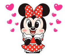 Minnie Mouse × Boobib   Line Sticker Disney Gift, Baby Disney, Mickey Mouse And Friends, Mickey Minnie Mouse, Mickey Cartoons, Hug Gif, Star Wars Stickers, Funny Emoticons, Love You Gif