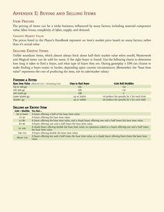 DnD 5e Homebrew — Craftign & Magic Items Part 2 by matthileo