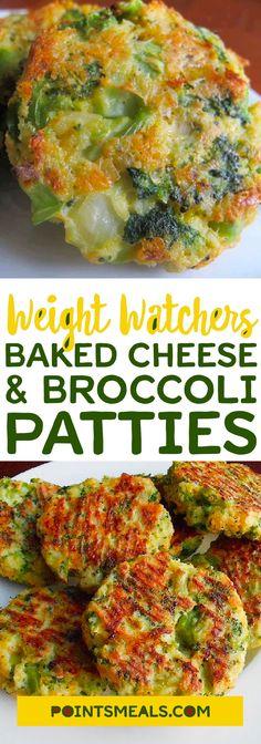 Baked Cheese & Broccoli Patties #Weight_watchers