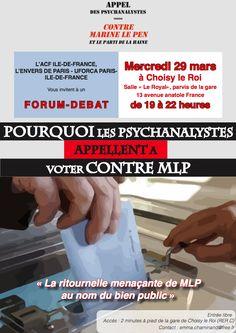 L'APPEL DES PSYCHANALYSTES CONTRE MARINE LE PEN ET LE PARTI DE LA HAINE