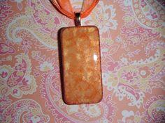 Orange You Glad Domino Pendant with Elegant by pendantparadise