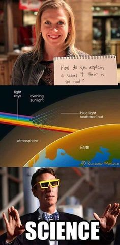 Science is not at war with religion and religion is not at war with Science. Science has actually backed up religion and always will. Sorry for the bad news Athiests! Pseudo Science, Science Guy, Science Books, Earth Science, Science Memes, Science Facts, Atheist Humor, Atheist Quotes, Atheist Beliefs