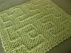 free ravelry pattern:  knit hilbert curve by devaburger, via Flickr