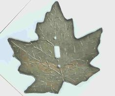 Image Detail for - Maple Leaf Light Switch Cover : Slate Creations, Handmade Slate Light ...